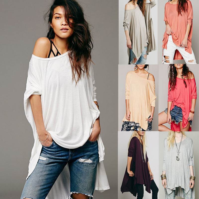 8524e16e5e Fashion One Shoulder Poncho T-shirt Sexy Blouse Tops on Luulla
