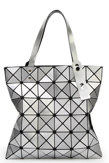 Changeable folding shoulder hand geometry bag(30L6Iq)