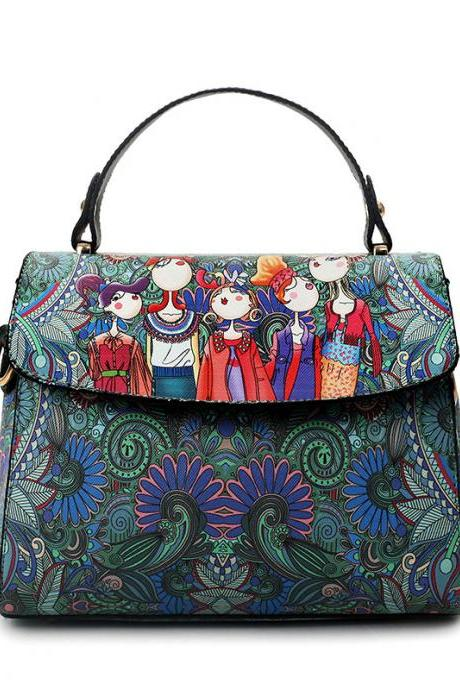 2017 Top sales ethnic Forest series printing hand and Diagonal bag(2FZ6ry)