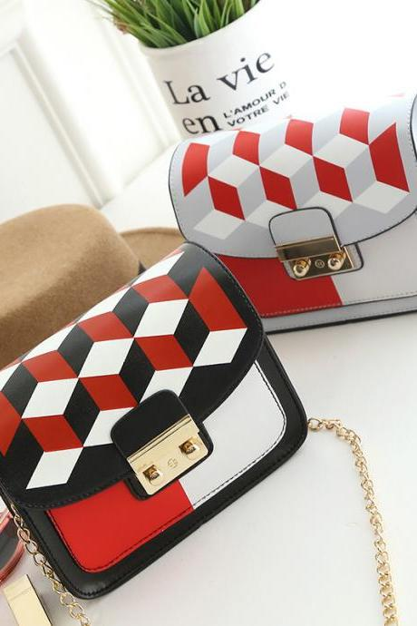 Geometric Block Crossbody Hand bag